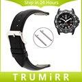 20mm Venda de Reloj de 22mm de Liberación Rápida para Luminox Hombres Mujeres primera Capa de Cuero Genuino Correa de Reloj Pulsera de la Pulsera Negro marrón