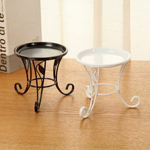 European Pastoral Plant Stand Creative Iron Support For Flowers Pot Trays Multifunction Flower Stands Garden Decoration Supplies(China)