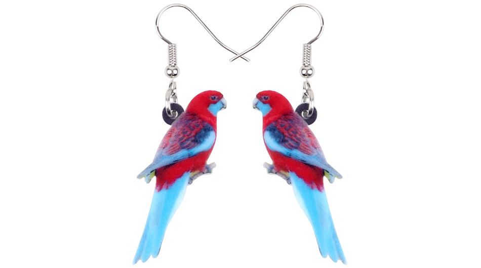 Acrylic Africa Fischer/'s Lovebird Parrot Necklace Pendant Jewelry For Women Kid