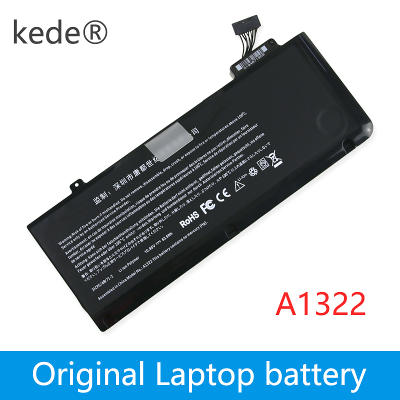 Kede 10.95V 63.5Wh A1322 A1278 Laptop Battery For APPLE MacBook Pro 13