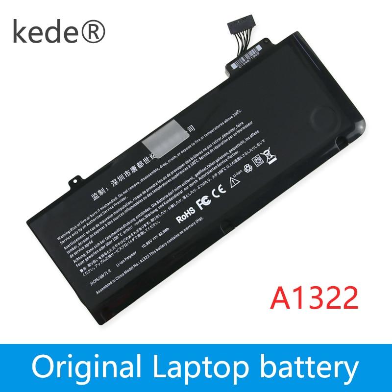 kede 10.95V 63.5Wh A1322 A1278 Laptop Battery For APPLE MacBook Pro 13 A1278 2009 MC700 MC374 MB990 ( 2009 2010 2011 2012 )