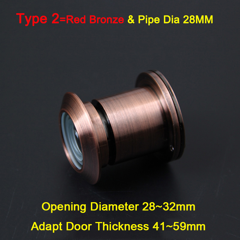 Top Quality 2PCS/LOT 260 Degree Brass Wide Angle Peephole Door Viewer, Door Spyphole Viewer,Anti-theft Security Peephole K168/2 adjustable home security 180 degree wide angle door viewer brass sight peephole for home tools