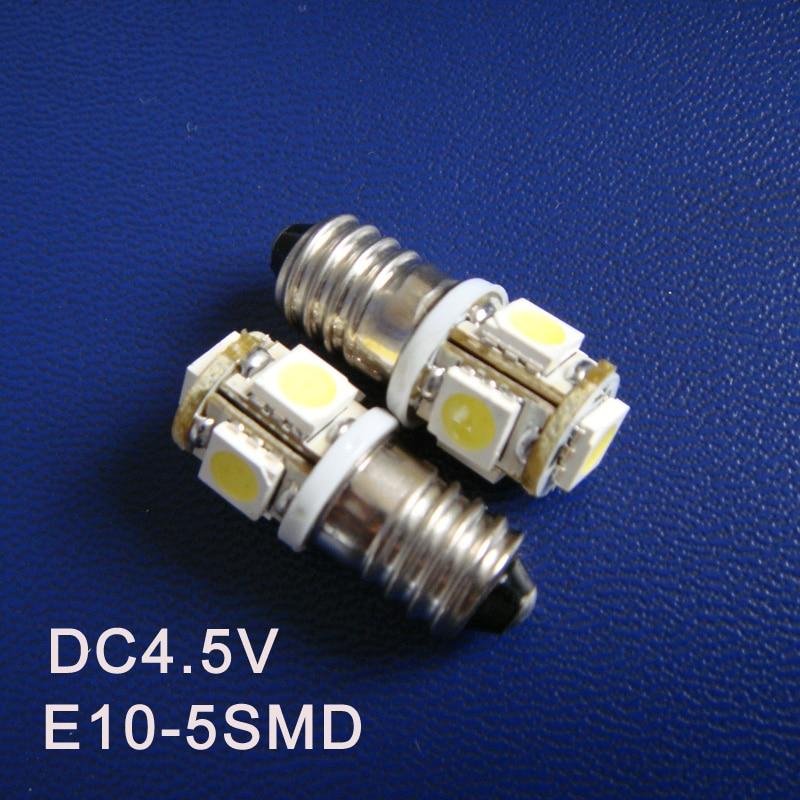High quality DC4.5V E10 Led Light Bulbs,E10 Warning Signal,Pilot Lamps,Indicator Lights,Instrument Lamps free shipping 5pcs/lot