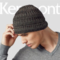 Kenmont Autumn Winter Outdoor Warm Men Boy Male Wool Knit Braided Crochet Beanie Hat Skull Ski Cap 1553
