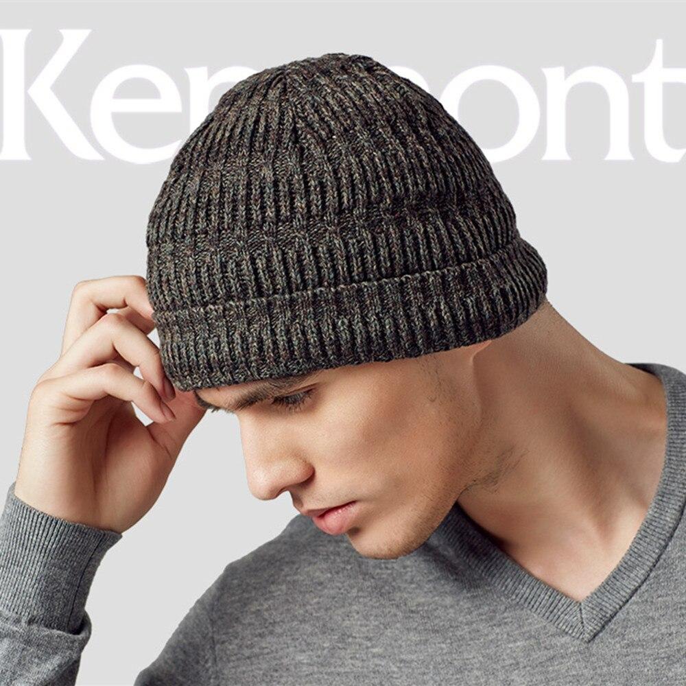 Kenmont Autumn Winter Warm Men Boy Male Wool Knit Braided Crochet Beanie Hat Skull Ski Cap 1553 pentacle star warm skull beanie hip hop knit cap ski crochet cuff winter hat for women men
