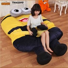 Vescovo Gifts for children Cartoon MinionsCartoon mattress, cushion, lovely and comfortable size of Full 180x150cm(China)
