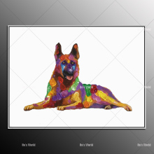 dog oil painting High Skills Artist Hand-painted Quality wolf Dog Oil Painting On Canvas Funny wall art