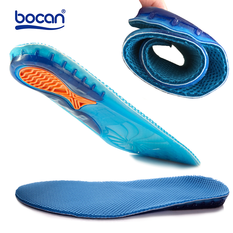 Bocan gel insoles top quality breathable comfortable silicone inserts deodorant shock absorption shoe insoles sport inserts sxtt silicone gel insoles shoe inserts