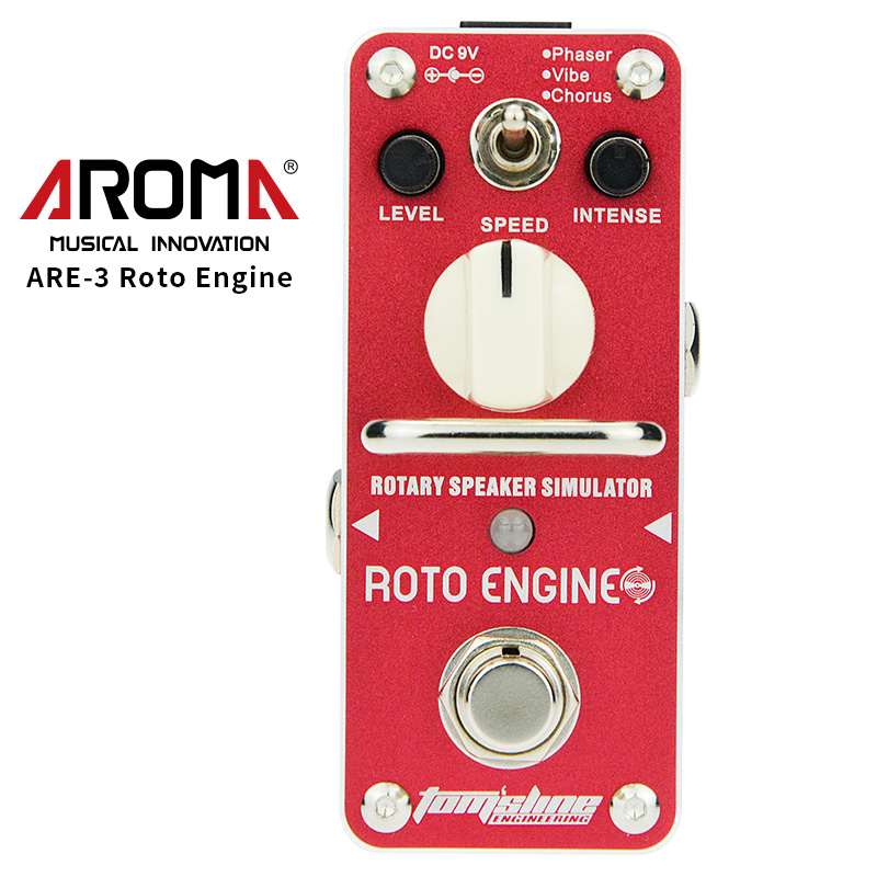 AROMA ARE-3 Guitar Effect Pedal Roto Engine Rotary Speaker Simulator Mini Single Electric Guitar Effect Pedal with True Bypass aroma aov 3 ocean verb digital reverb electric guitar effect pedal mini single effect with true bypass guitar parts