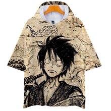LUCKYFRIDAYF Kpop 3D ONE PIECE Summer Short Sleeve Hoodies Sweatshirts Harajuku Skull Print Women/Men Clothes 4XL