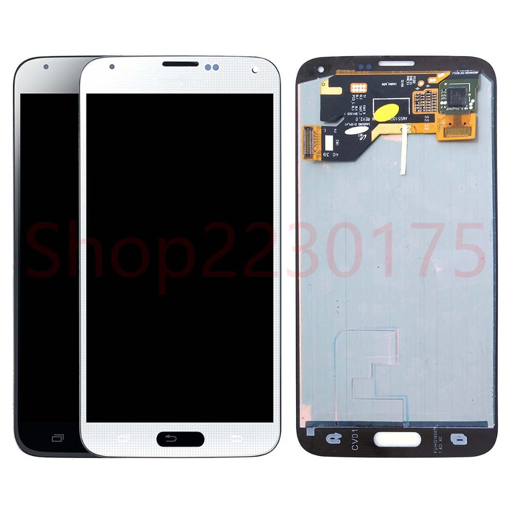 For Samsung Galaxy S5 i9600 G900 G900F Super AMOLED LCD Display Touch Screen Digitizer Assembly Replacement PartsFor Samsung Galaxy S5 i9600 G900 G900F Super AMOLED LCD Display Touch Screen Digitizer Assembly Replacement Parts