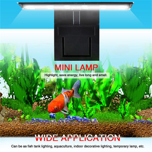 Super Slim LED Aquarium Light 220V 5W Fish Tank 5730 LED Light Aquatic Plant Grow Lighting Waterproof Clip-on Lamp EU Plug#