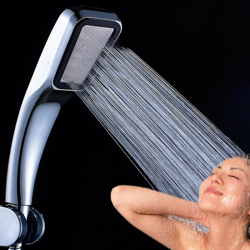 300 Hole Pressurized Water Saving Shower Head Chrome Plated ABS Water Booster Showerhead For Bathroom