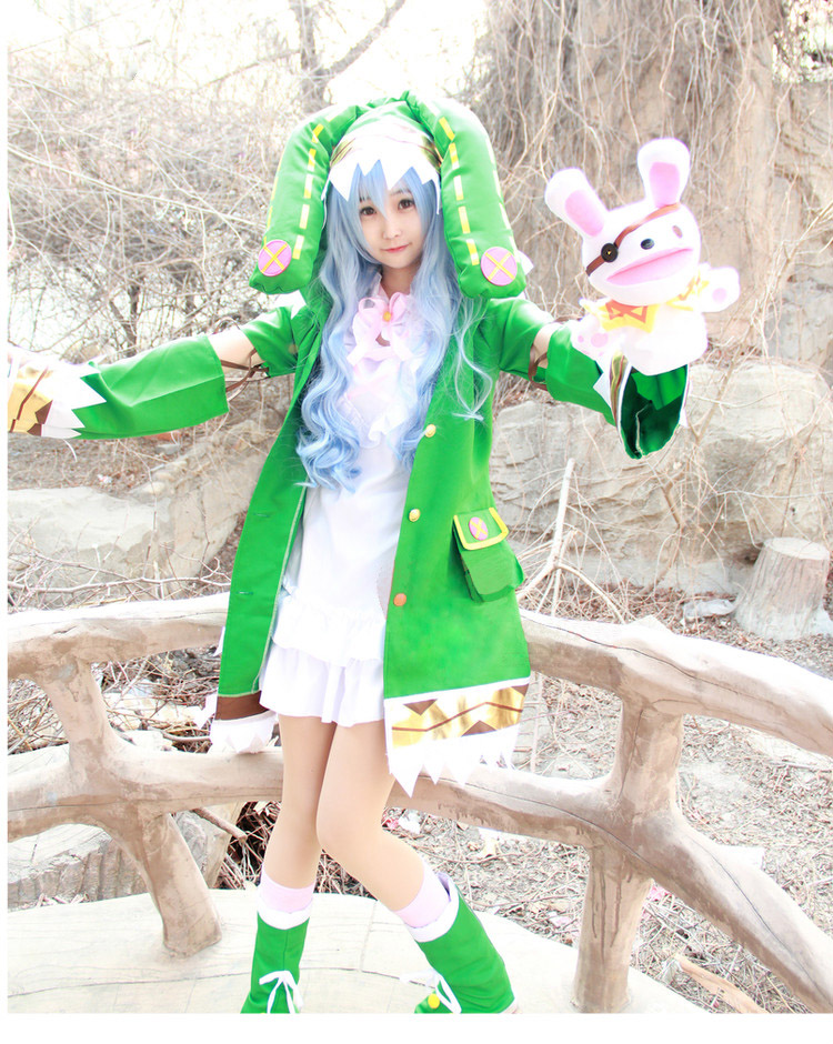 Date A Live Cosplay Yoshino Cosplay Costume Hermit Uniforms Anime Cosplay Elf Dress Outfits Full Set