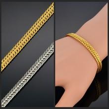 Bracelet à maillons en or de 20/22 CM pour hommes/femmes, bijoux Vintage, style Boho Figaro, vente en gros