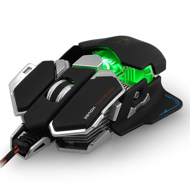 Wired Macros Gaming Mouse Computer 4000 DPI 10 Buttons Backlit Optical Gamer Mice Mechanical Ergonomic PC Desktop Peripherals 5