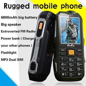 Image 2 - 2G Gofly robuste extérieur Senior téléphone portable fort son torche FM longue veille russe clé batterie externe Bluetooth vitesse cadran