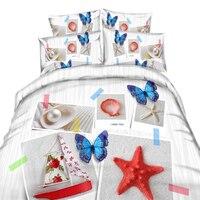 3D Home Textile,3d Textile Painting,Unique 3d Bedding Sets,Pastoral Princess Bedding,Colorful Butterflies,Cotton Comforter Sets
