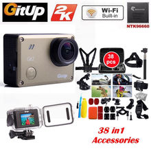 Gitup Git2 Pro Camera Wireless WiFi 2K Action Cam Helemet Sports Camera DV+38 Pcs Accessories Kit