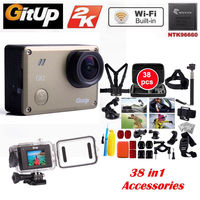 Gitup Git2 Pro Wireless WiFi 2K Helemet Sports Camera DV 38 Pcs Accessories Kit Free Shipping