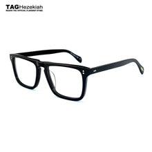 9922fb545b Gafas montura 2018 nueva etiqueta Hezekiah gafas marca hombres mujeres  Retro moda miopía ordenador gafas ópticas ov5189t gafas