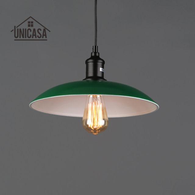 Tienda Online Moderno Lámparas colgantes verde Sombras hierro ...