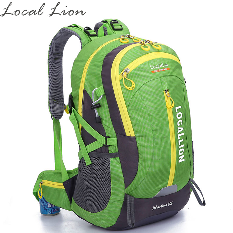 ФОТО LOCAL LION Hiking Backpacks Mountaineering Bags Water-resistant Outdoor Sport Backpack Climbing Daypack Sport Bag HT477
