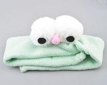Women Girls Cute Coral Fleece Cat Ears Elastic Headbands Soft Comfortable Wash Face Bath Hairbands Photo Prop Hair Accessories
