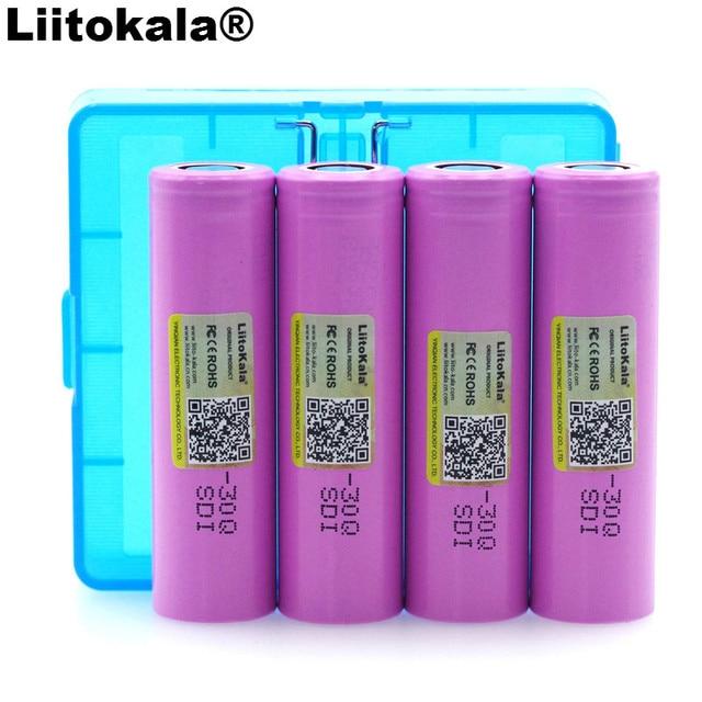 4 шт. Liitokala Оригинальный 3,7 в ICR18650 30Q аккумулятор 3000 мАч литиевая батарея inr18650 аккумуляторная батарея + коробка