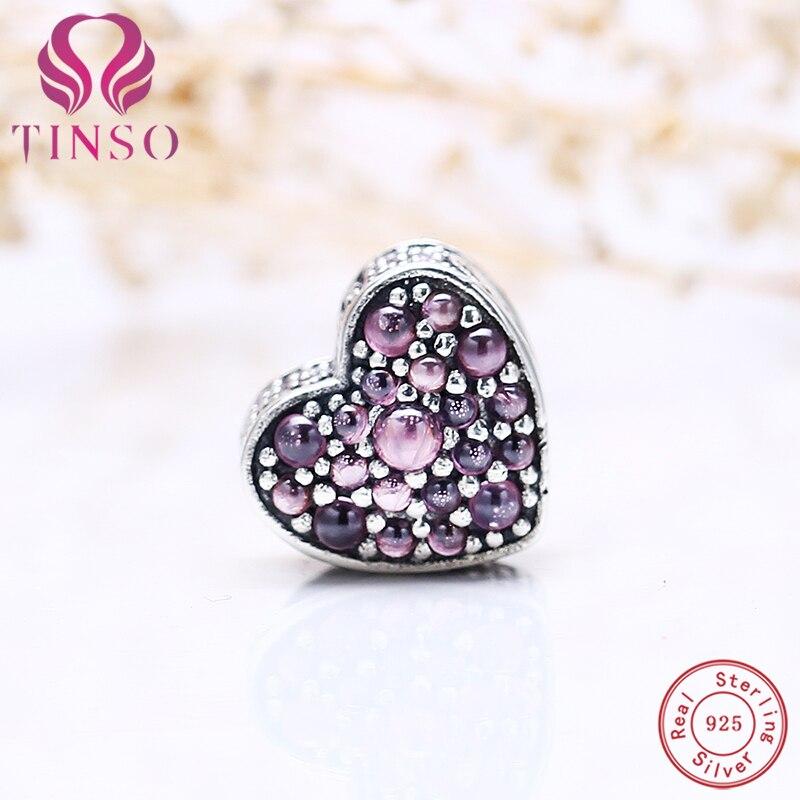 Lily Jewelry Pavé Open My Heart Pink CZ Clip 925 Sterling Silver Bead Fits Pandora Charm Bracelet GcGhdZHqzT
