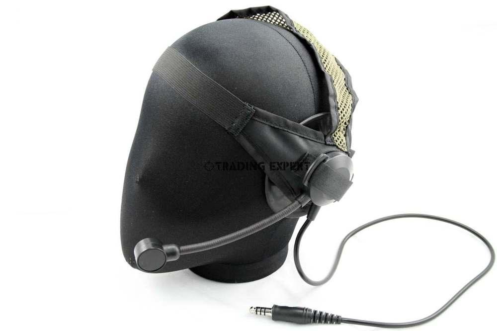 요소 전술 군사 전술 헤드셋 세렉스 TASC1 헤드셋 블랙 탄 EX028
