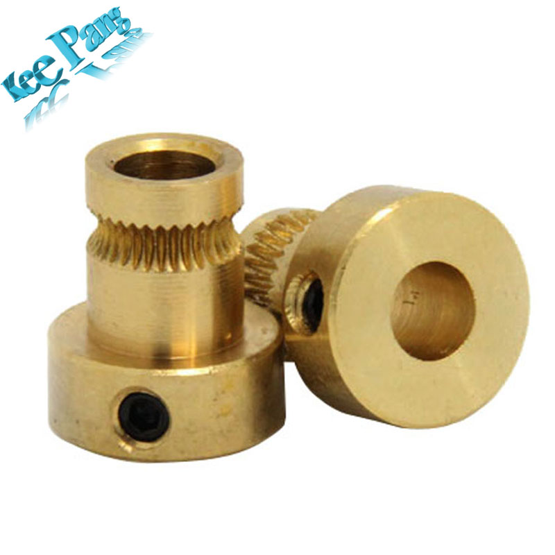 Free Shipping ! Drive Gear (5mm bore NEMA17) Extruder Pulley for RepRap 3D Printer Mendel