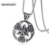 Meaeguet vintage gótico cruz colar triskele escocês triângulo irlandês nó antigo punk pingente colar