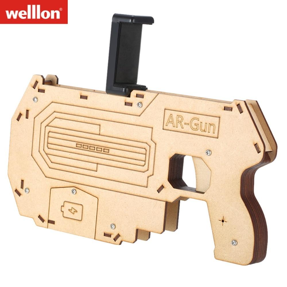 WELLLON Portable AR Gun ARG1 Augmented Reality Gaming Gun Smartphone Shooting Games DIY Toy Gun for Android iOS Phones