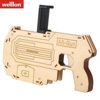 WELLLON Portable AR Gun ARG1 Augmented Reality Gaming Gun Smartphone Shooting Games DIY Toy Gun For