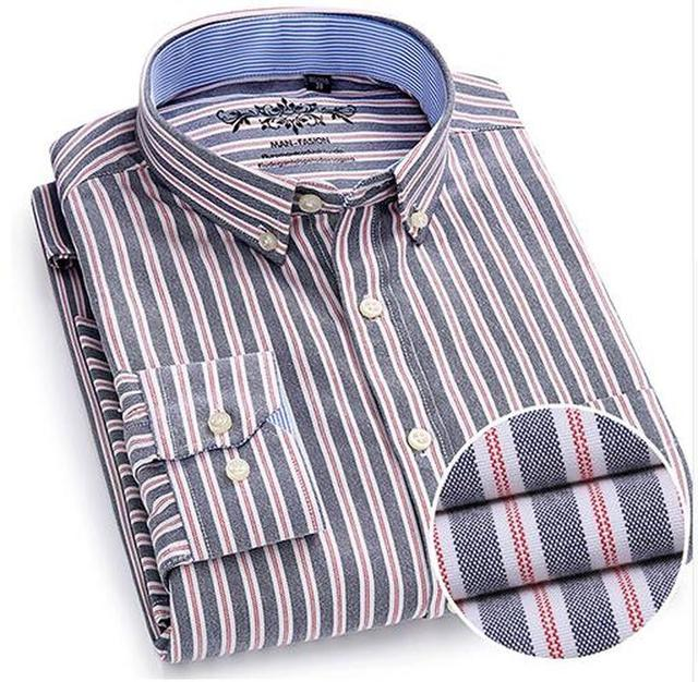 Quality Button Down Shirts Men's Long Sleeve  Shirt