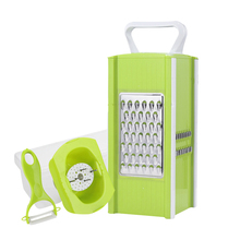 Multi-function Vegetables Graters Plastic Handle Stainless Steel Slicers Cutter Fruit Tools Kitchen Gadgets Accessories Supplies
