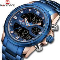Haut de gamme marque NAVIFORCE hommes montres militaire LED étanche numérique Sport hommes horloge homme montre-bracelet relogio masculino