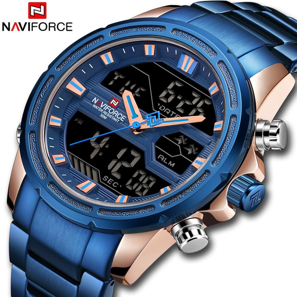 Top Luxus Marke NAVIFORCE Männer Uhren Militär Wasserdichte LED Digital Sport herren Uhr Männliche Armbanduhr relogio masculino
