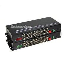 1pair16 канала видео данных, волоконно-оптические media converter, 16v1d, RS485FC/Одиночный режим