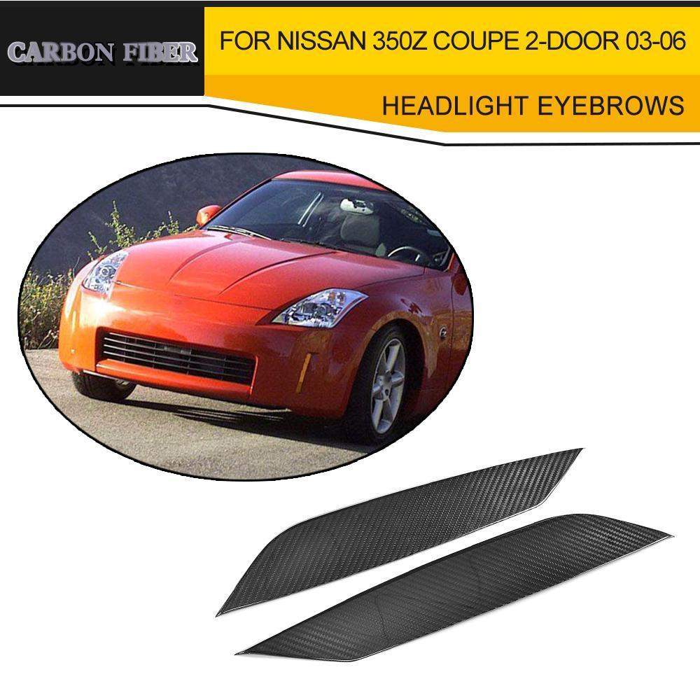 Dry Carbon Fiber Side Door Mirror Covers for Nissan 350Z Coupe Z33 Z Fairlady