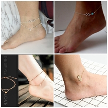 New Heart Pendant Anklets Barefoot Sandals Foot Jewelry Fashion On Ankle Bracelets For Women
