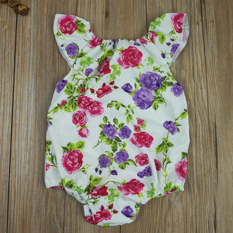 Fashion Infant Baby Rompers Cotton Newborn Baby Girl Clothes Sleeveless Rose Print Girls Jumpsuit Roupas Bebes Costume newborn baby rompers baby clothing 100% cotton infant jumpsuit ropa bebe long sleeve girl boys rompers costumes baby romper