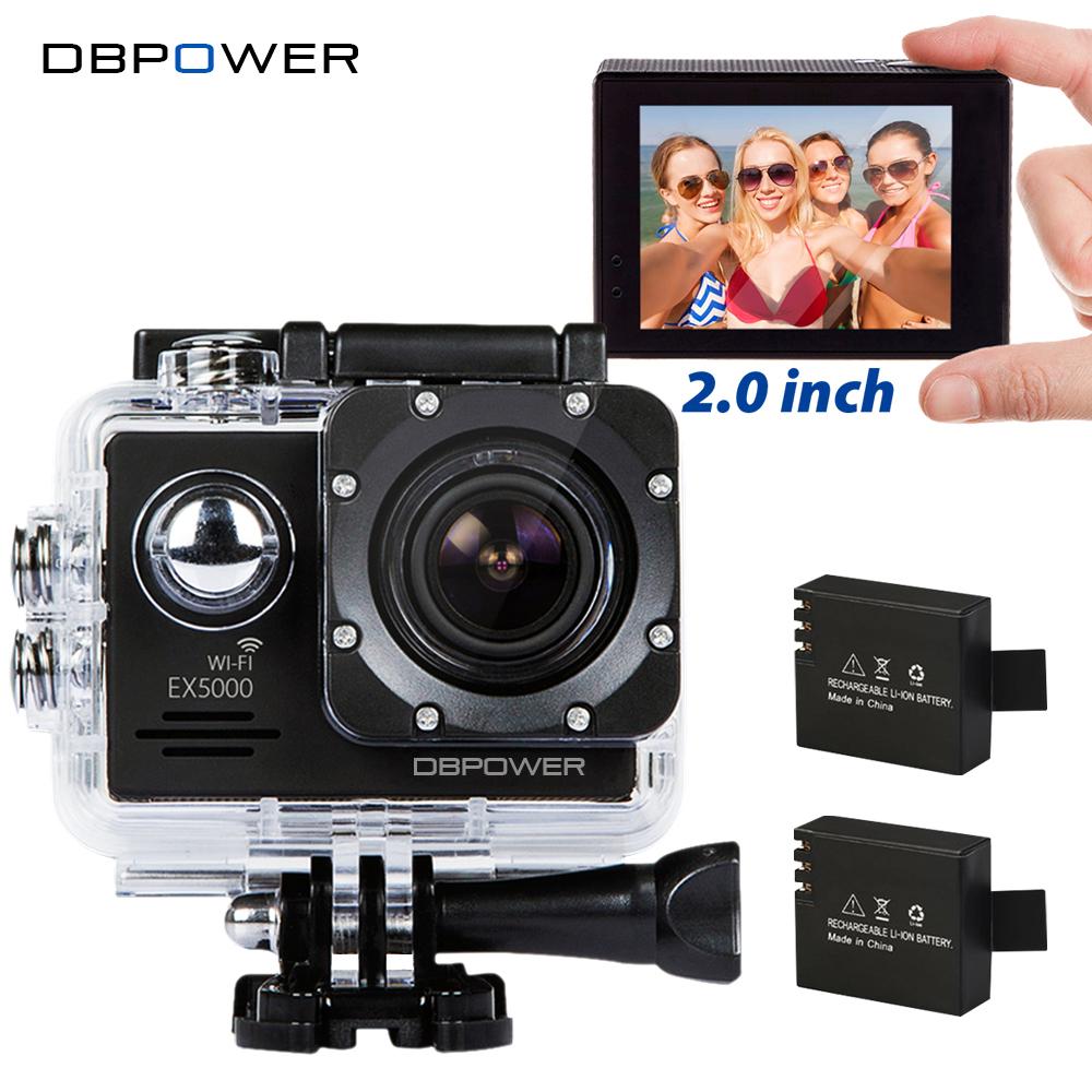 Prix pour DBPOWER EX5000 2.0 pouces Écran Wifi 1080 P Étanche Action Sports Caméra 14MP Sport Cam Aller SJ5000 Pro 2 Batteries accessoires