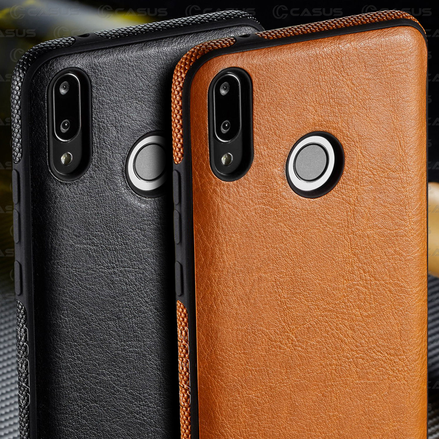 For Huawei P Smart 2019 Case Luxury Vintage Leather Cover Shockproof