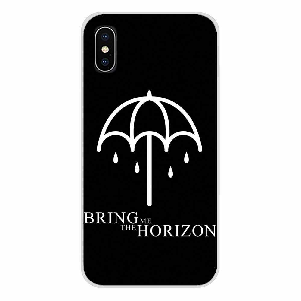 TPU transparente Shell fundas para Apple iPhone X XR XS MAX 4 4S 5 5S 5C SE 6 6 S 7 8 Plus ipod touch 5 6 Bmth Me trae el horizonte
