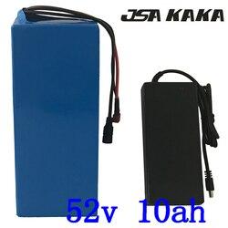 52V e-bike batterie 52V 8AH 10AH 12AH 13AH batterie de vélo électrique 52V 48V 500W 750W 1000W batterie Lithium-ion avec chargeur 2A