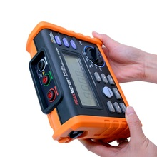 MS2302 Digital Earth Resistance Tester Megger 0ohm ~4K ohm 100 Groups Data Logging with LCD backlight display protmex pt6208a lcd display high performance revolution meter contact type digital tachometer with data logging backlight