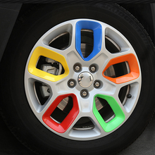 YONGXUN 1PCS for Jeep Liberty wheel sticker bright circle JEEP free wheel wheel changing color decorative cover sequins refit