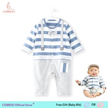 b5e852d0a7fd Newborn Baby Boy Clothes Summer Rompers 0 3 Months Stripe Boys Shirts  Clothes 2018 Baby Clothing